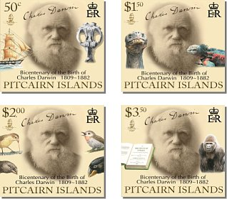 Charles Darwin stamps