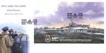 HMS Pitcairn First Day Cover