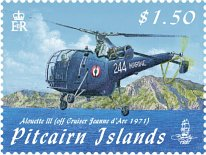 Aircraft over Pitcairn $1.50