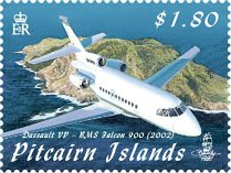 Aircraft over Pitcairn $1.80