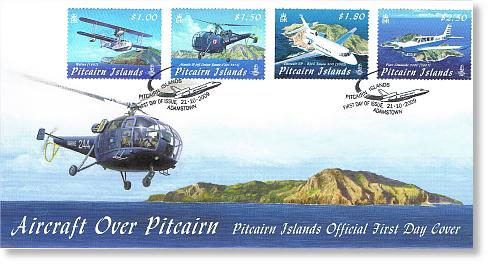 Aircraft over Pitcairn FDC